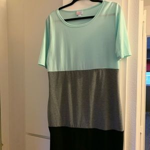 Lularoe Julia Tri Color Dress